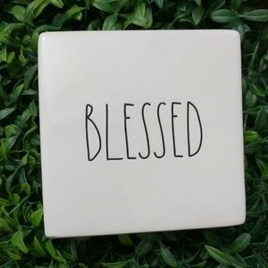Rae Dunn BLESSED Block Paperweight